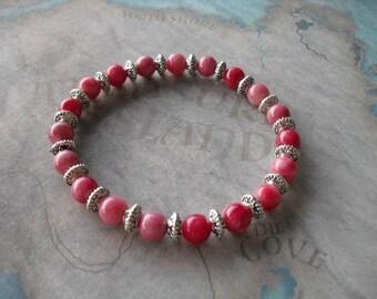 Gorgeous pink kuzite bracelet