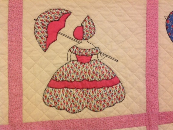 Vintage Colonial Lady Quilt Pattern From