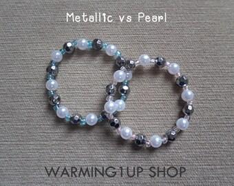 Metallic vs Pearl Bracelet Set