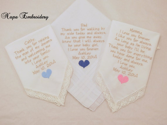 WEDDING Gifts for MOTHER and FATHER and Mother in law set of 3 ...