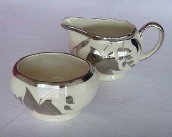Vintage Sandland Ware Silver Plated Creamer and Sugar Set