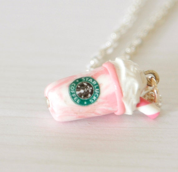 Starbucks necklace polymer clay - 26.8KB