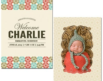 "Charming Charlie Baby Announcement 5"" X 7"" Digital File"