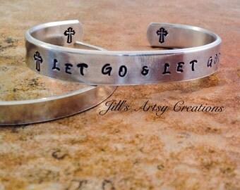 Religious bracelet, inspirational bracelet, cuff bracelet, God bracelet, aluminum bracelet