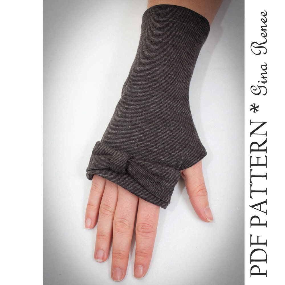 Fingerless gloves sewing pattern arm warmer pattern pdf sewing this is a digital file jeuxipadfo Image collections