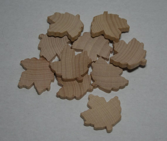 1 3 8 Quot Wood Maple Leafs Set Of 10 Unfinished Wood Leaves