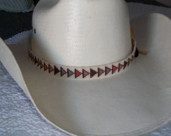 Hand beaded hat band