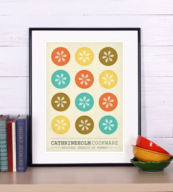 cathrineholm pentole retr poster design scandinavo foto di cucina arte retr stampa