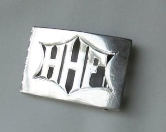 Vintage Monogram Clip for Hat Band- Initials HHF