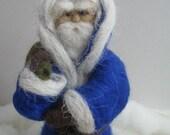 Handmade Needle Felted Christmas Santa Claus Sculpture
