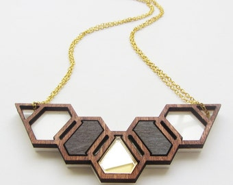 Geo-hive necklace