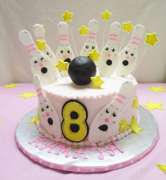 Cake Decorating Theme Kits : BOWLING Theme Edible Fondant Cake Decorating Kit