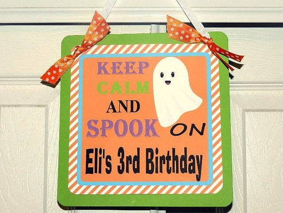 Halloween  Birthday- Fall Birthday Party- Fall Birthday Decorations-  Welcome Door Sign - Halloween Birthday Party