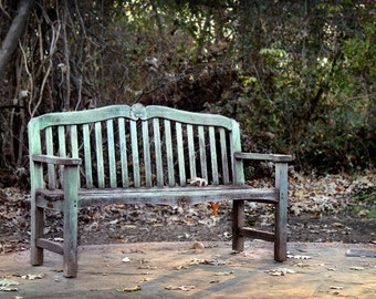 Landscape Photography - Weathered Bench - 8x12 8x10 5x7 11x14 16x20 16x24 20x30 Fine Art Photograph - Park Bench, Fine Art Photograph