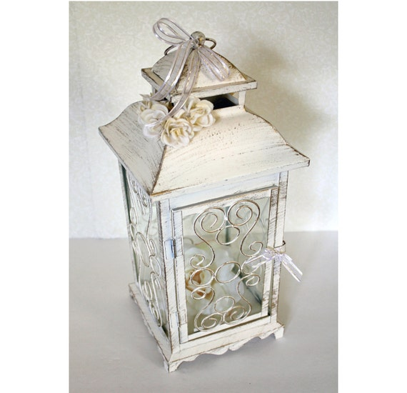 Vintage Wedding Centerpieces Ideas: Wedding Lantern Centerpiece. 10in. Vintage By DazzlingGRACE