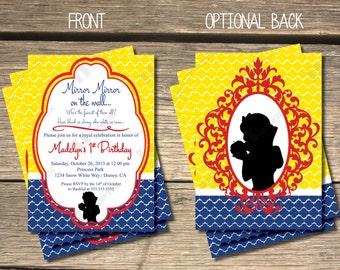 Snow White's Enchanted Birthday Invitation - 5x7
