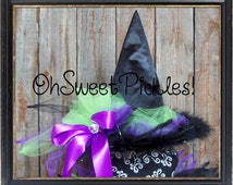 Custom ESMERALDA SPELLS The Evil Tulle Witch Hat -  Halloween Costume Tulle Witch Hat - Child Size or Adult Size