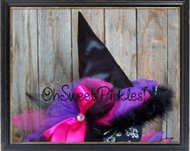Custom QUEEN GLADYIS The Good Witch Tulle Hat -  Halloween Costume Tulle Witch Hat - One Size