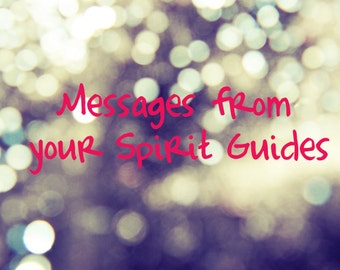 Messages from your Spirit Guides - Oracle Cards