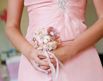 Tilly dusky pink button bouquet