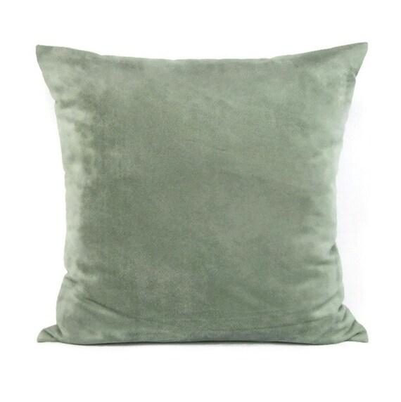 Seafoam Blue Decorative Pillows : Seafoam Suede Pillow Cover Decorative Throw Accent Toss Sofa