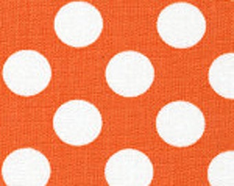 Orange and White Dot Fabric Finders Cotton Fabric