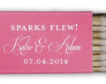 "50 ""Sparks Flew"" Personalized Custom Matches - 1.20 each"