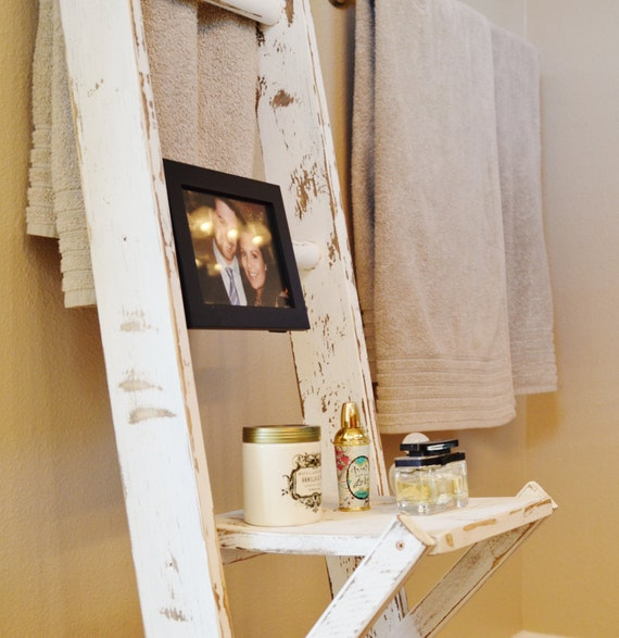 Unique Are You Short On Bathroom Storage? Try Going Up And Utilize That Vertical Wall Space! Kathleen From Charm Bracelet Diva At Home Got A Brand New Storage Ladder For Her Bathroom, And It Sure Wasnt By Spending $279 At Pottery Barn!