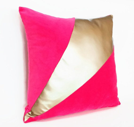 Fuschia Velvet Throw Pillows : Throw Pillow Cover - 18