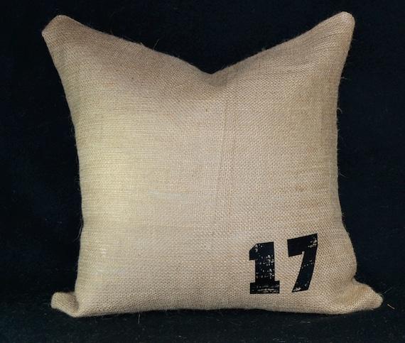 Decorative Pillow Fabric : Items similar to Burlap fabric pillows decorative pillow throw you pick the number pillow burlap ...