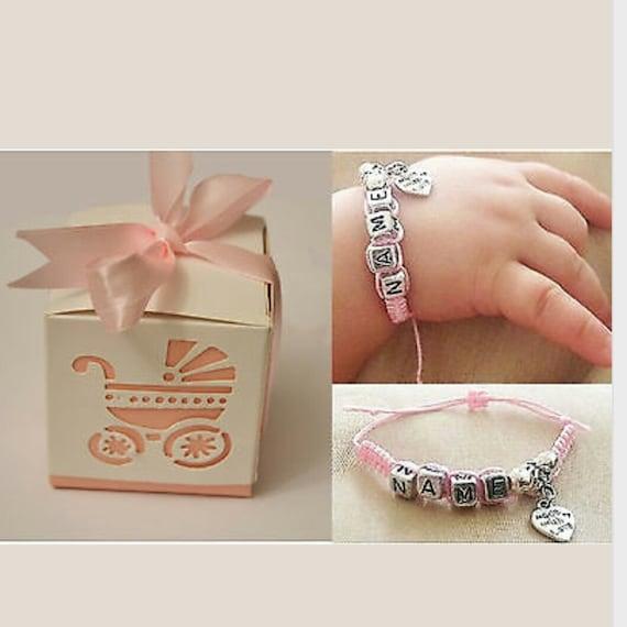 Baby Bangle Gift Box : Baby name bracelet with gift box by namemebracelets
