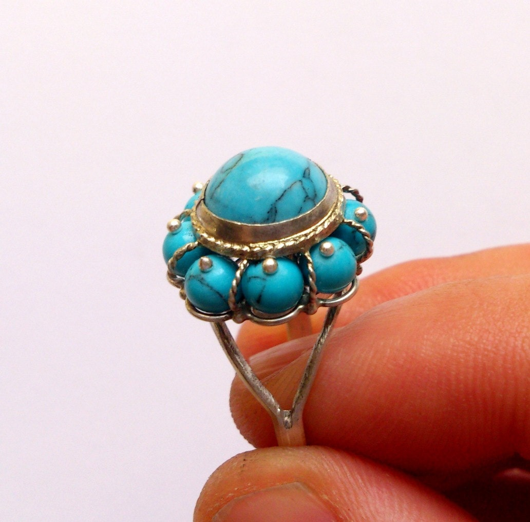 Gemstones For Rings: Sterling Silver Turquoise Ring Gemstone Ring Turquoise