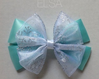 elsa hair bow