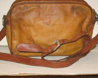 Sale From 65.00-Classic Alviero Martini 1A Classe PVC  Leather Map Handbag of Australia