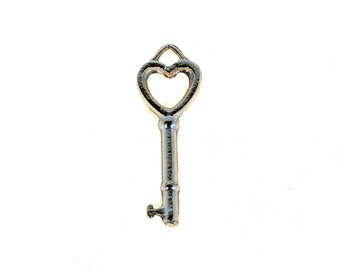 Sterling SIlver Key to Your Heart Love Pendant