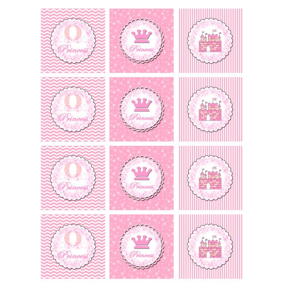 Princess Cupcake Topper Or Party Sticker Printable
