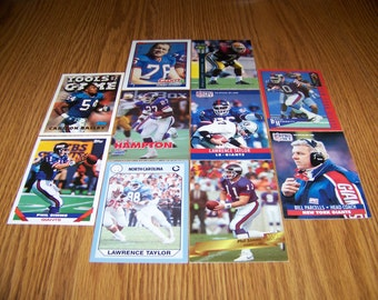 50 New York Giants Football Cards