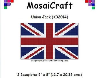 MosaiCraft Pixel Craft Mosaic Art Kit 'Union Jack' (Like Mini Mosaic and Paint by Numbers)