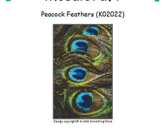 MosaiCraft Pixel Craft Mosaic Art Kit 'Peacock Feathers' (Like Mini Mosaic and Paint by Numbers)