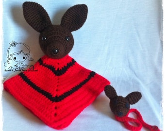 Doggy Security Blanket & Pacifier Holder - PDF Crochet Pattern - Instant Download