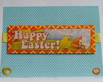 Happy Easter Chick and Egg - Easter Card