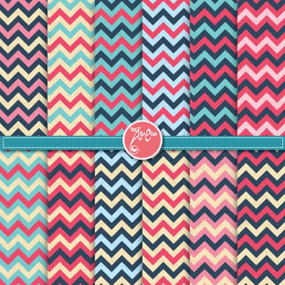 Items similar to Chevron digital paper pack ,Chevron Clip ...