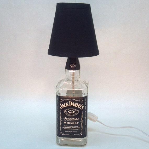 jack daniel 39 s bottle lamp by suziscrafts on etsy. Black Bedroom Furniture Sets. Home Design Ideas