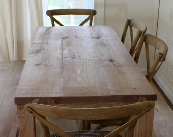 Dining Table, Parsons Table, Reclaimed Wood Kitchen Table