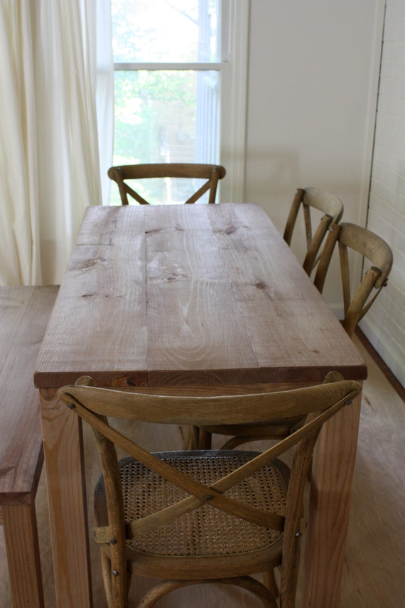 Handmade Solid Wood Table // Reclaimed Wood Dining Table // Reclaimed Wood  Table /