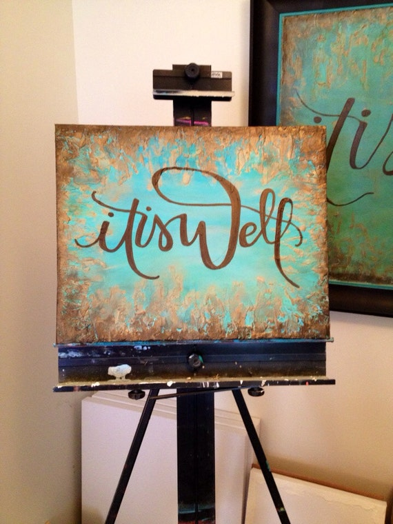 Items similar to it is well textured canvas painting on etsy for Canvas to paint on