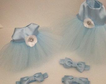 Something Blue wedding dog dress