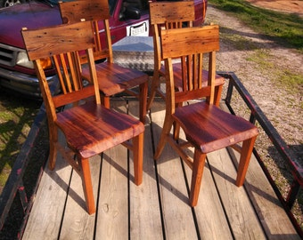 Rustic yet Modern Heart Pine/ Ash Dining Chair