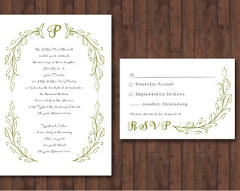 Secret Garden Wedding Invitation Set - DIGITAL