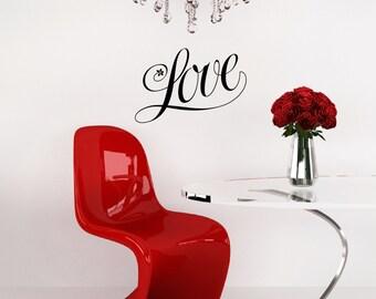 Love Silhouette Removable Wall Art Wall Decor Decal Vinyl Sticker Mural Romantic Valentine
